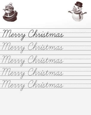 Merry Christmas In Cursive.Alphabet Letters Learning To Write Letters Font